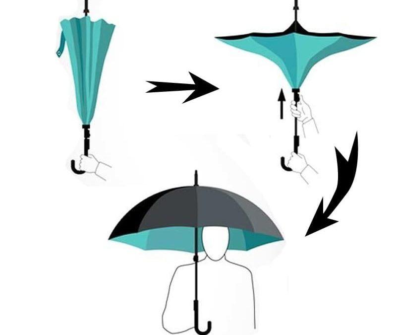 Parapluie inversé : un accessoire de mode très pratique