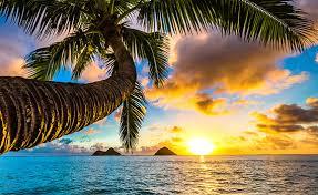 coucher soleil hawai
