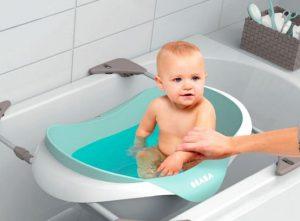 preparer arriver premier bébé baignoire
